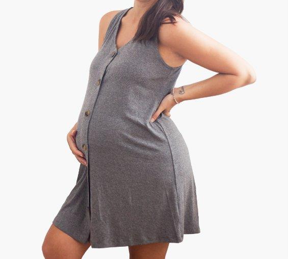 Vestido Easy Gris Melange